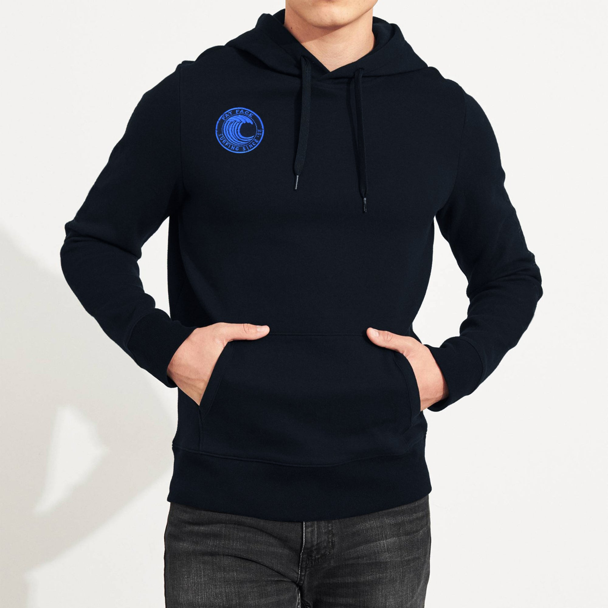 Next Fleece Pullover Hoodie For Men-Dark Navy-SP1451
