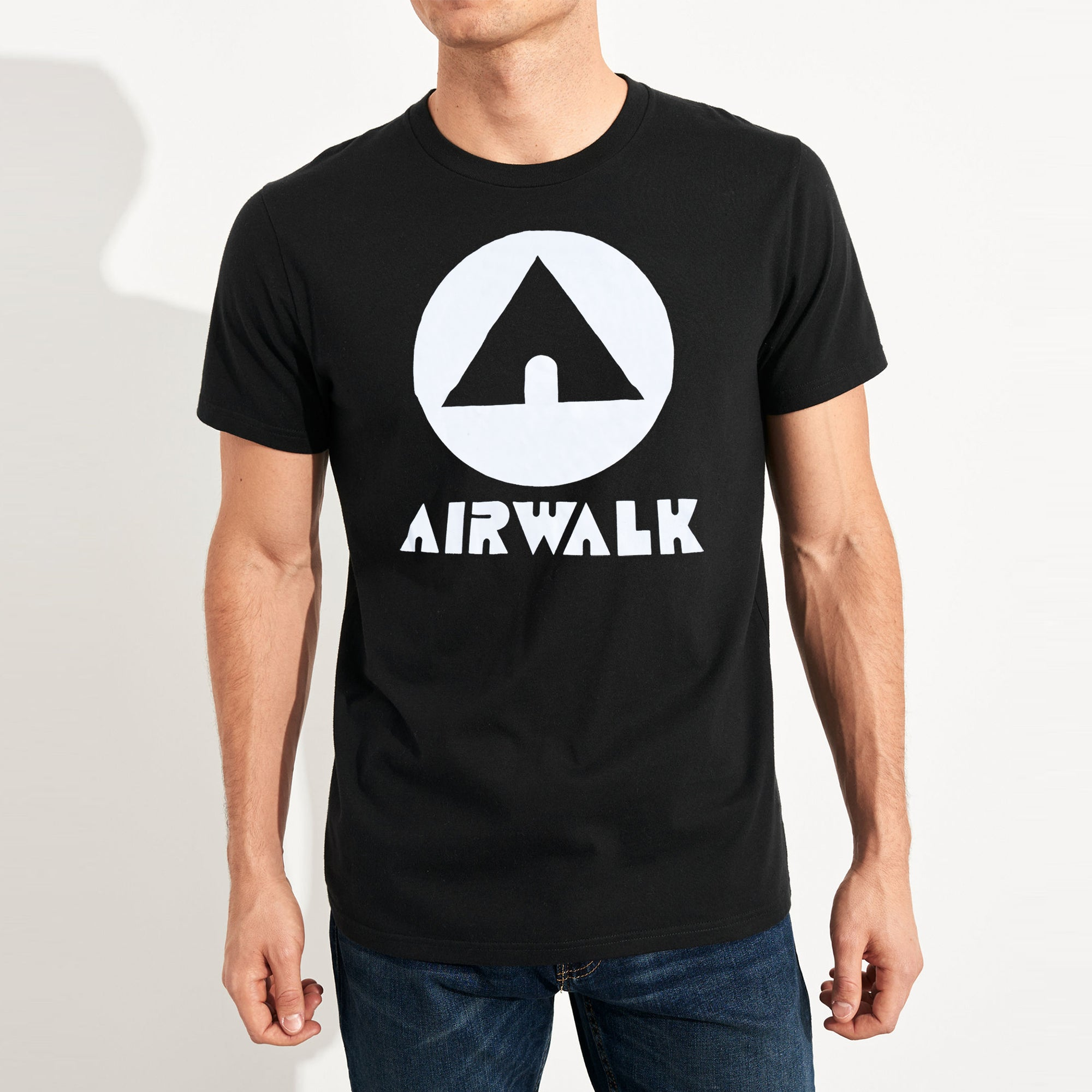 brandsego - Air Walk Single Jersey Half Sleeve Tee Shirt For Men-Black-SP167