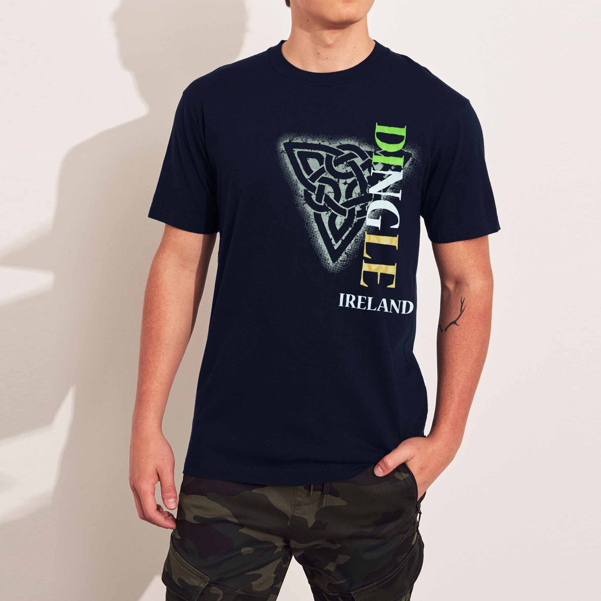 Dolmen Single Jersey Tee Shirt For Men-Dark Navy With Print-SP605