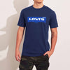 Levis Crew Neck Single Jersey Tee Shirt For Men-Navy With Blue Print-SP615