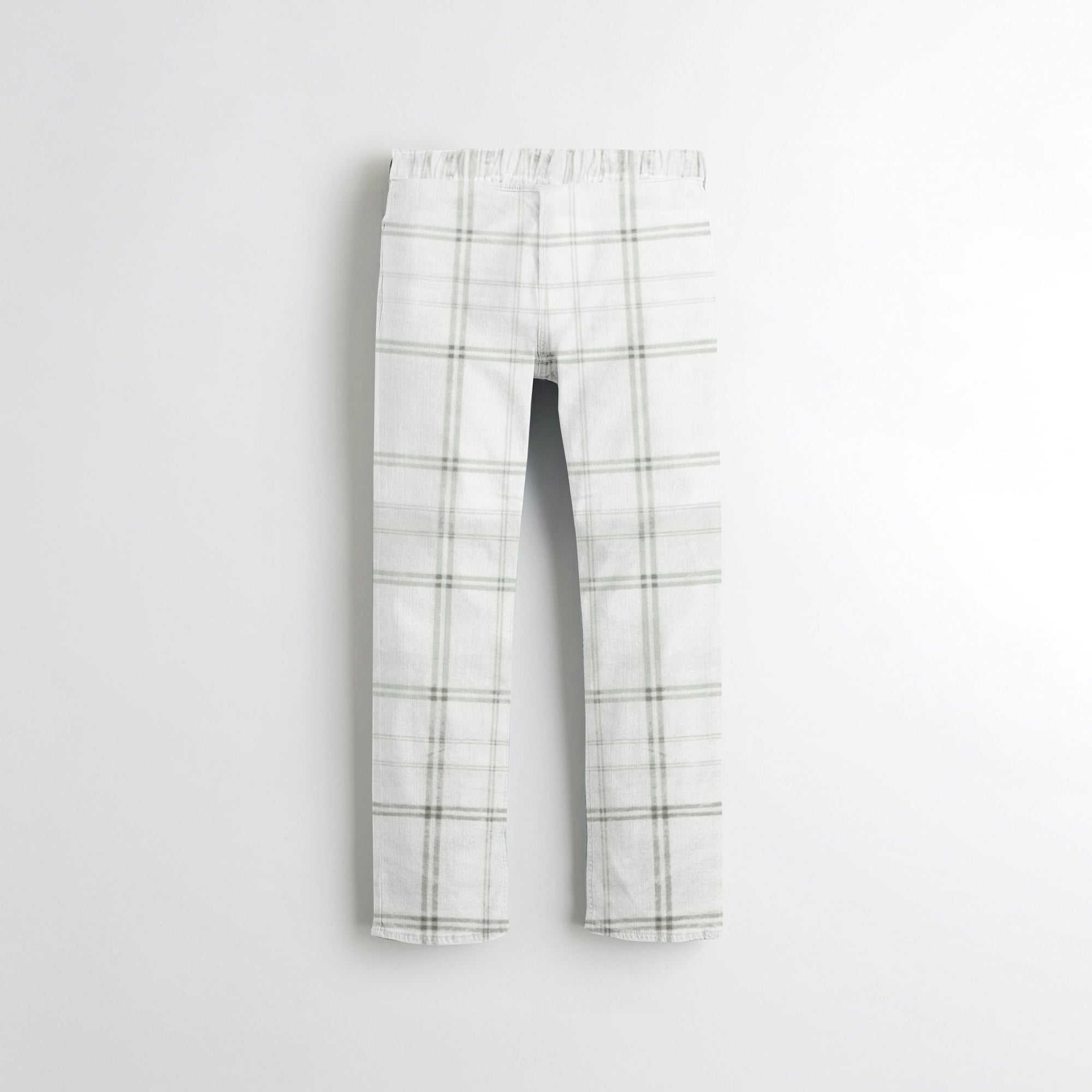 Zara Man Slim Fit Flannel Trouser For Kids-Allover Print-SP343