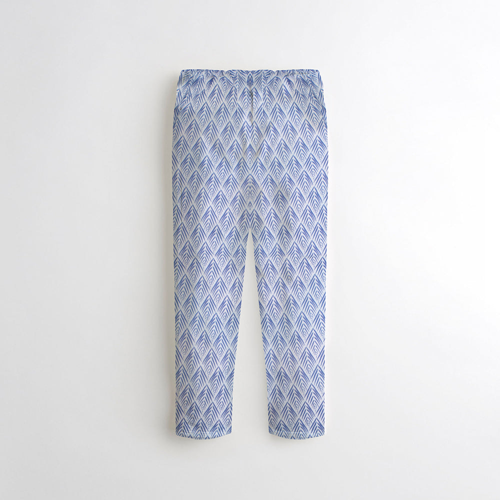 Next Straight Fit Cotton Trouser For Kids-All Over Printed-NA8861
