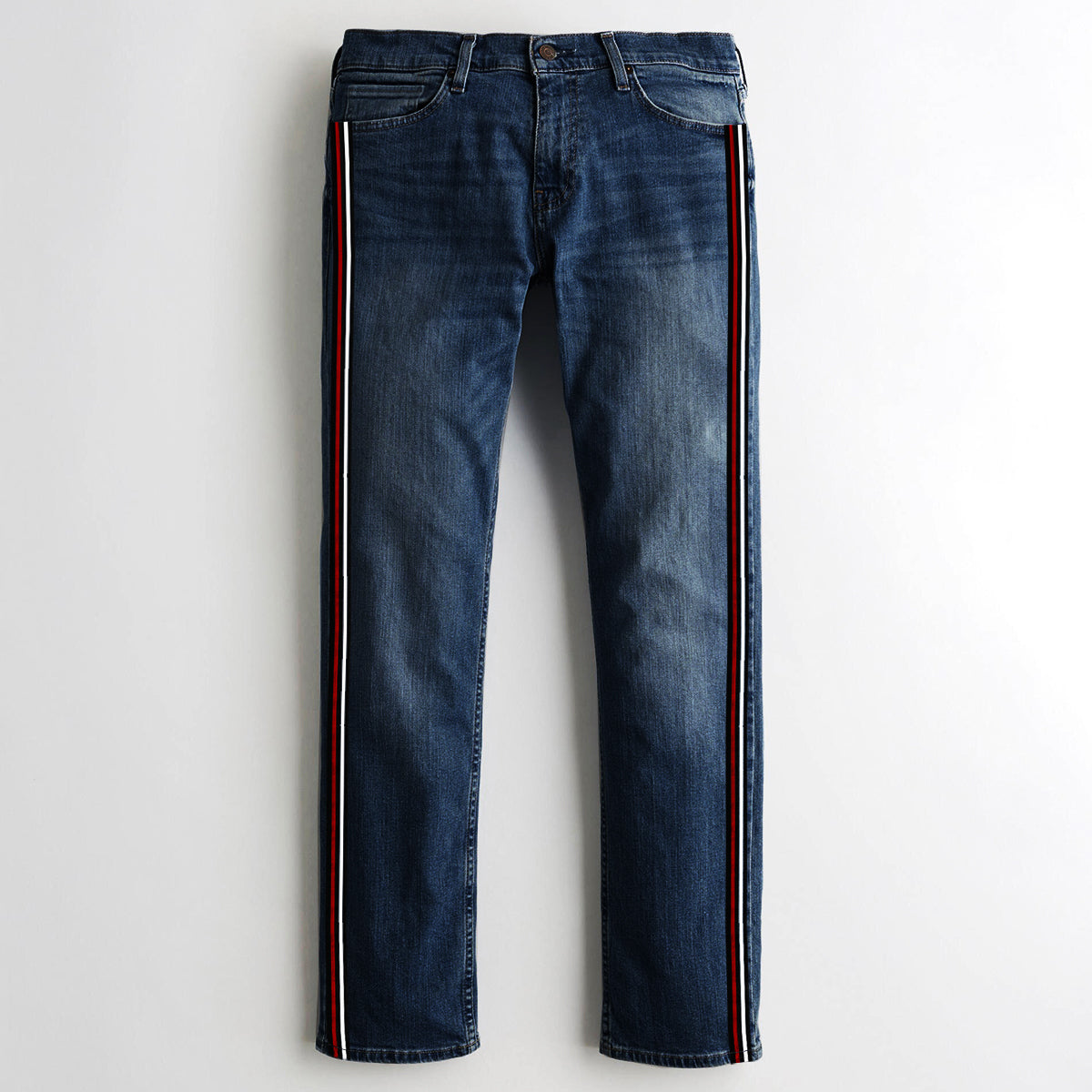 Conbipel Slim Fit Non Stretch Side Stripe Denim For Men-(S3)-Blue Faded-NA9407