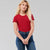 Popular Sports Crew Neck Tee Shirt For Women-Red-NA11151