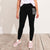 NYC Fleece Slim Fit Jogger Trouser For Ladies-Black-NA9927