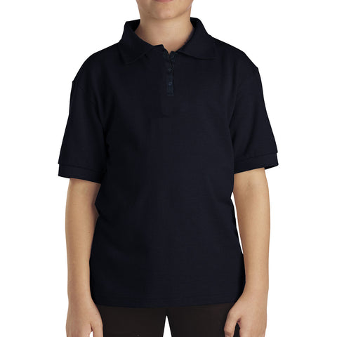 B Quality Dickies Polo Shirt For Boys-Dark Navy-BE799