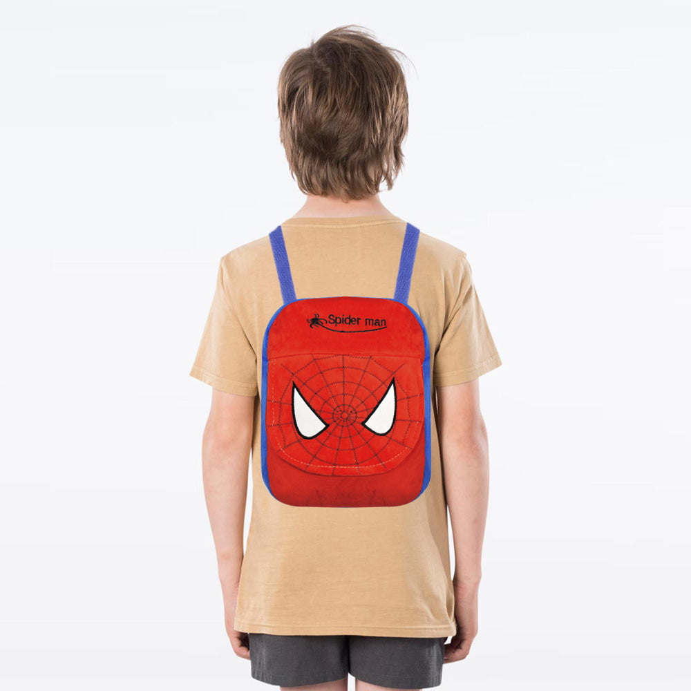 Velvet School Bag For Kids-Spider Man-BE11593