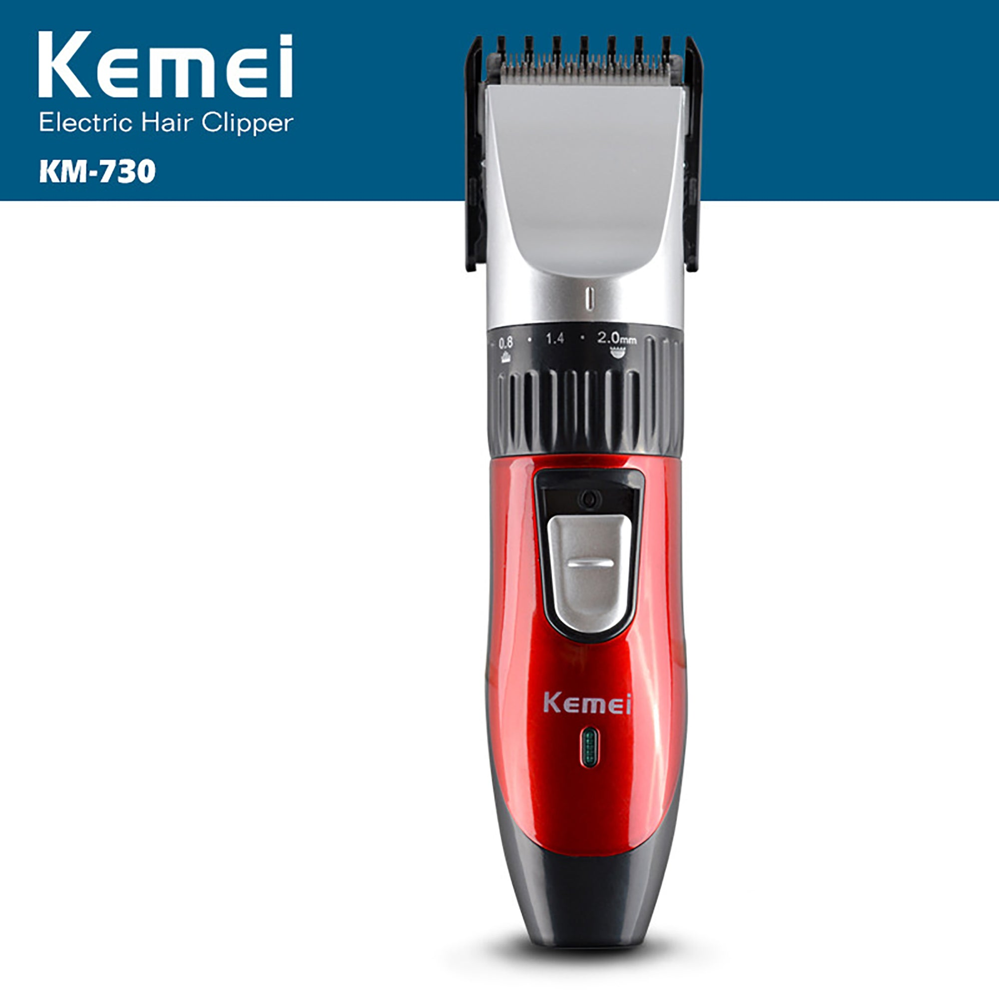 Professional Kemei Rechargeable Cordless Beard/Hair Clipper Km-730-SK0376