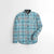 Cat Premium Slim Fit Casual Shirt For Boys-Light Sea Green Chek-NA12019