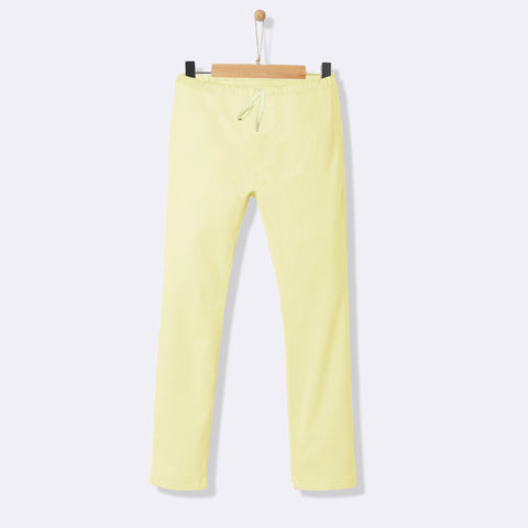 Kids Soft Sleeping Trouser-Light Yellow-NA1045