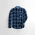 Cat Premium Slim Fit Casual Shirt For Boys-Navy Chek-NA12007