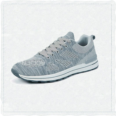 Knit Style Footwear Sports Running Shoes for Men-Grey-NA10962