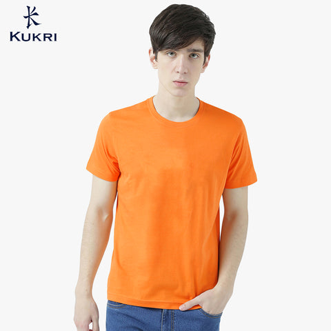 Kukri Crew Neck Half Sleeve T Shirt For Men-Orange-NA1020