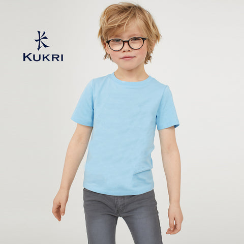 Kukri Sprts Half Sleeve Single Jersey Tee Shirt For Boys-Sky Blue-NA5380