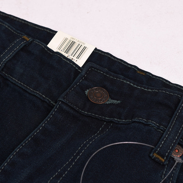 LEVI'S Slim Fit Dark Faded Stretch Denim For Men-Dark Navy-Levis 09