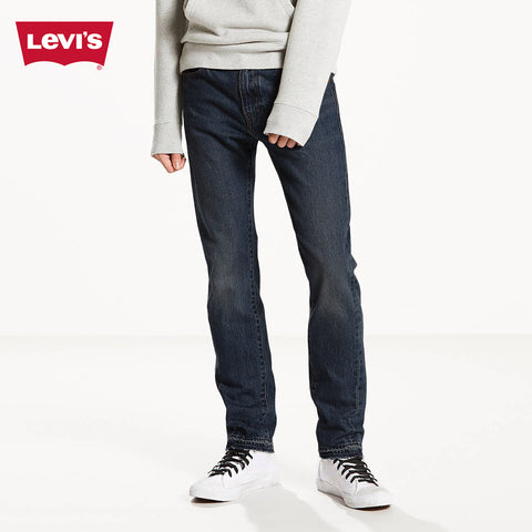 LEVI'S Slim Fit Stretch Denim For Men-Dark Blue Faded-Levis 25