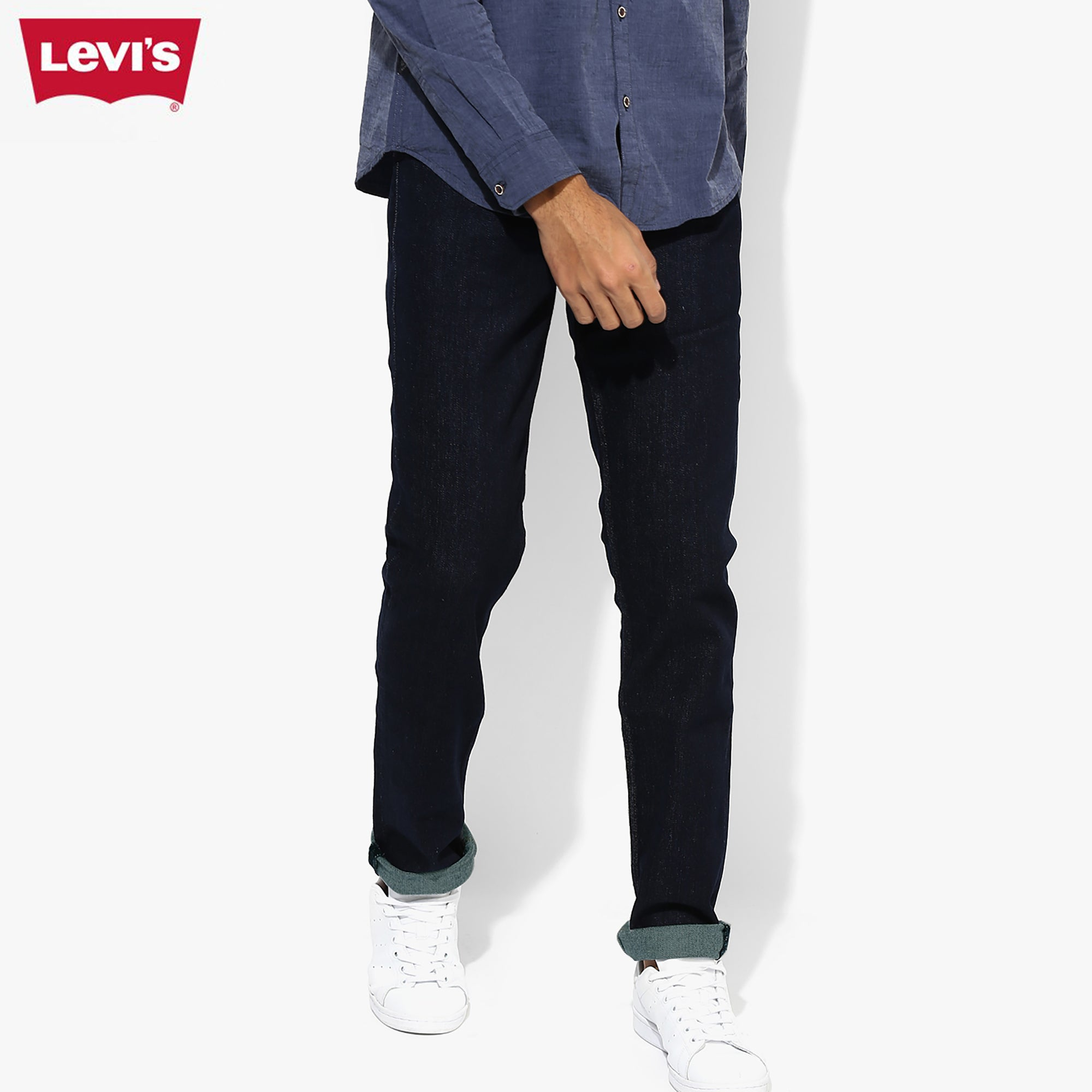 LEVI'S Slim Fit Stretch Denim For Men-Dark Navy-Levis 18