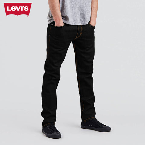LEVI'S Slim Fit Stretch Denim For Men-Jet Black-Levis 27