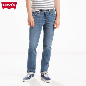 LEVI'S Slim Fit Stretch Denim For Men-Light Blue Faded-Levis 21