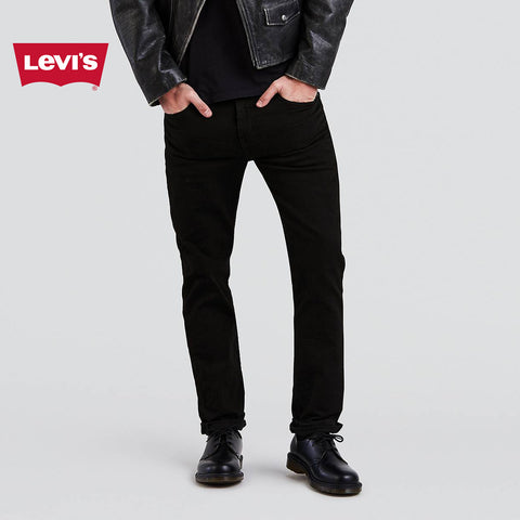 LEVI'S Slim Fit Stretch Denim For Men-Jet Black-Levis 03