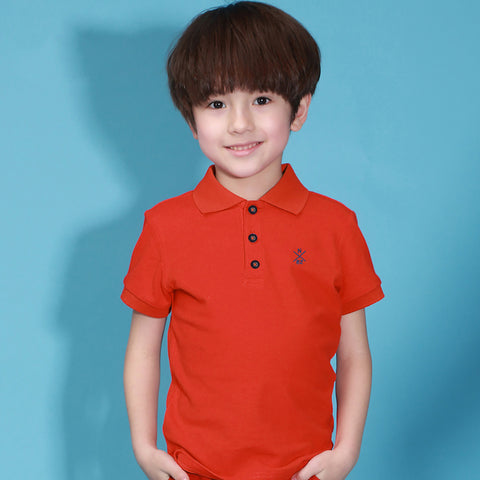 Next Polo Shirt For Kid Cut Label-Orange-BE2283