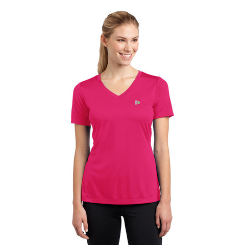Donnay V neck T Shirt For Women-BE951