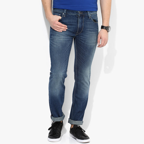 "Men's ""DIESEL"" Light Blue Slim Fit Stretch Denim With Dirty Wash -ND11"