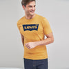 Levis Crew Neck Single Jersey Tee Shirt For Men-Light Yellow Faded-NA8726