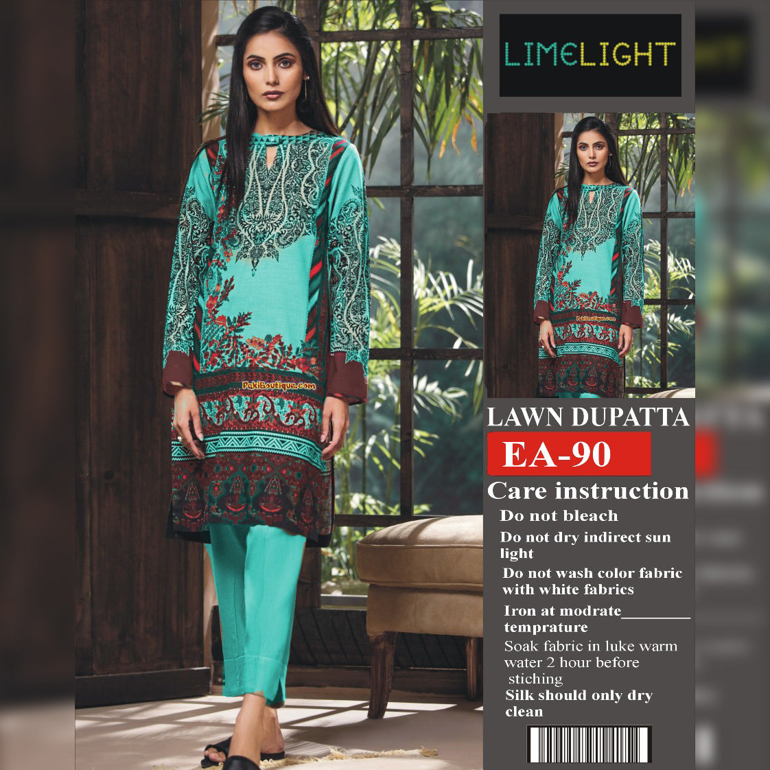 Lime Light Lawn Collection 3 Piece Un-stitch Suit For Ladies-NA8835