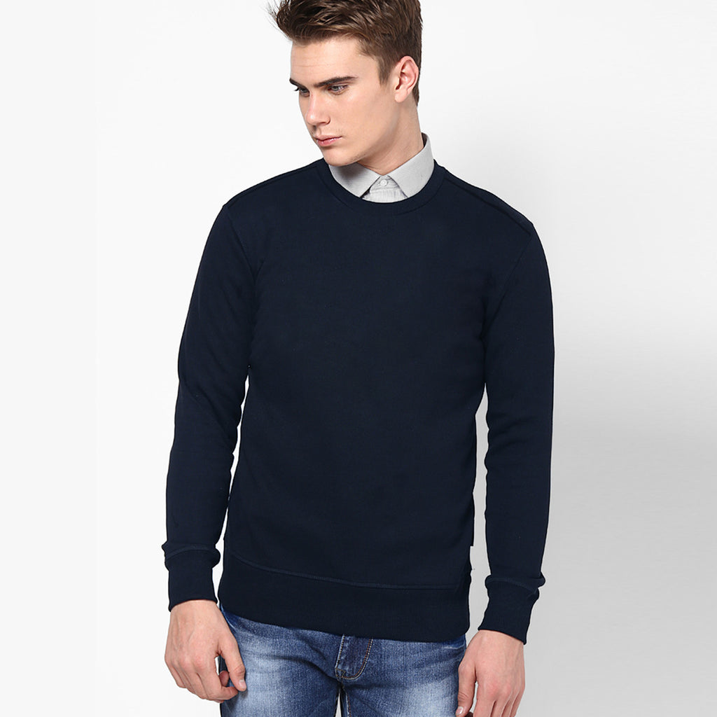 "Men's ""RTY"" Sweat Shirt-Navy-RTS01"