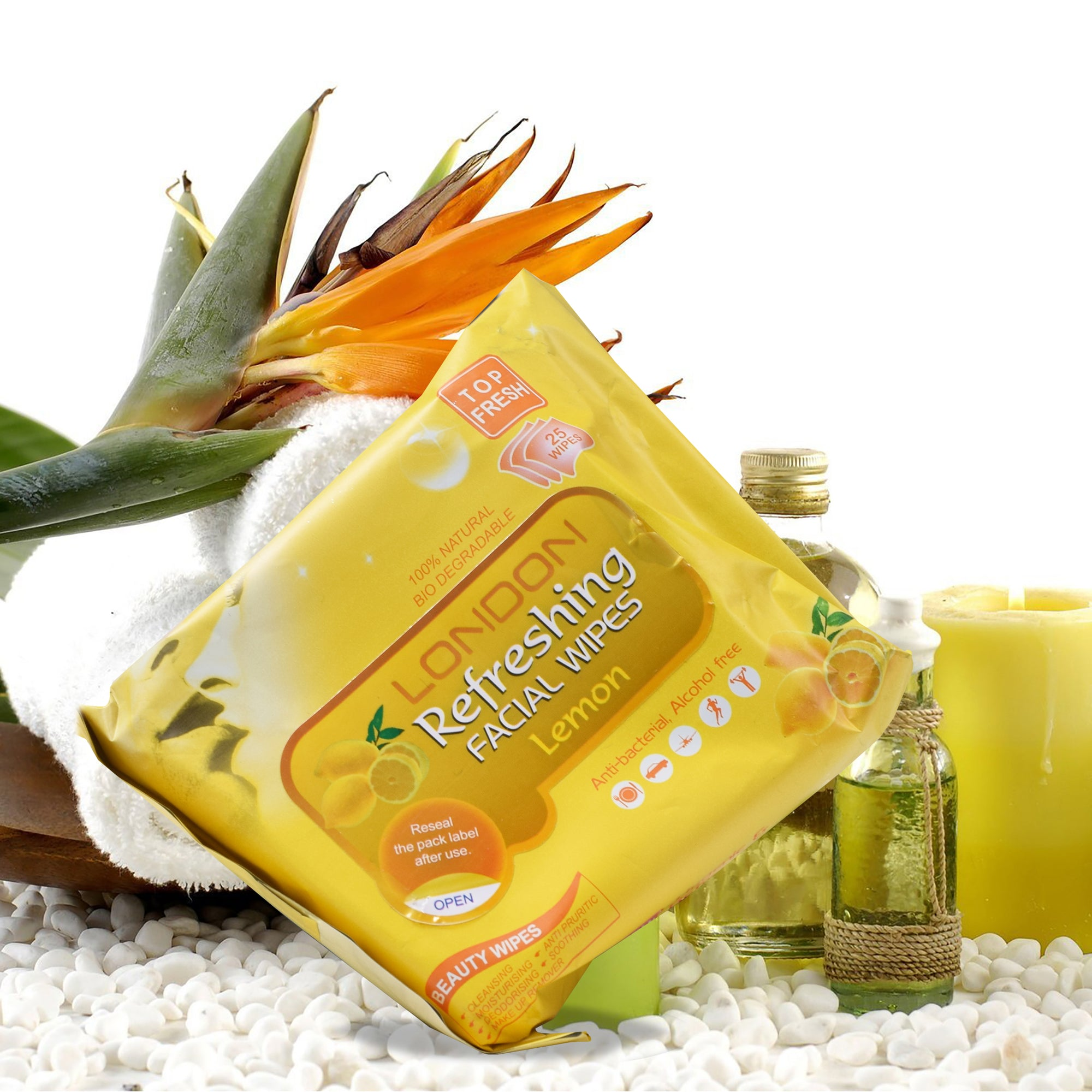 London Facial Wipes-Lemon-NA1325