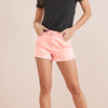 Love Denim Short For Ladies-Pink-NA8800