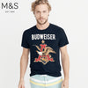 M&S Crew Neck Tee Shirt For Men-Dark Navy-NA834