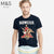 brandsego - M&S Crew Neck Tee Shirt For Men-Dark Navy-NA834
