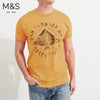 M&S Crew Neck T Shirt For Men-Golden Melange-BE4482