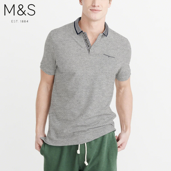 M&S P.Q Polo Shirt For Men-Grey-BE4311
