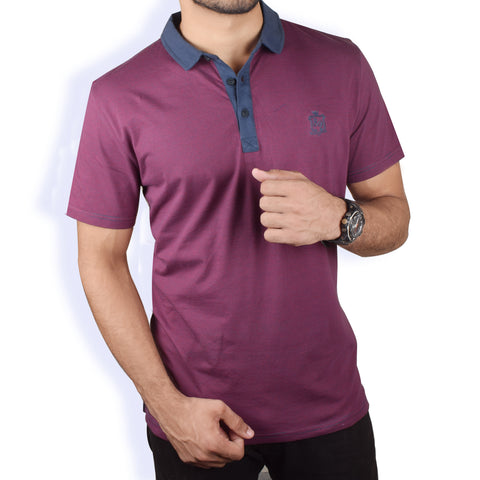 M&S Polo Shirt For Men Maroon-BA000134