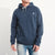 M&S Pullover Raglan Sleeve Fleece Hoodie For Men-Light Navy Melange-BE6279