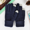 Magic Touch Screen Knitted Wool Free Size Gloves For Men-Assorted-NA10252