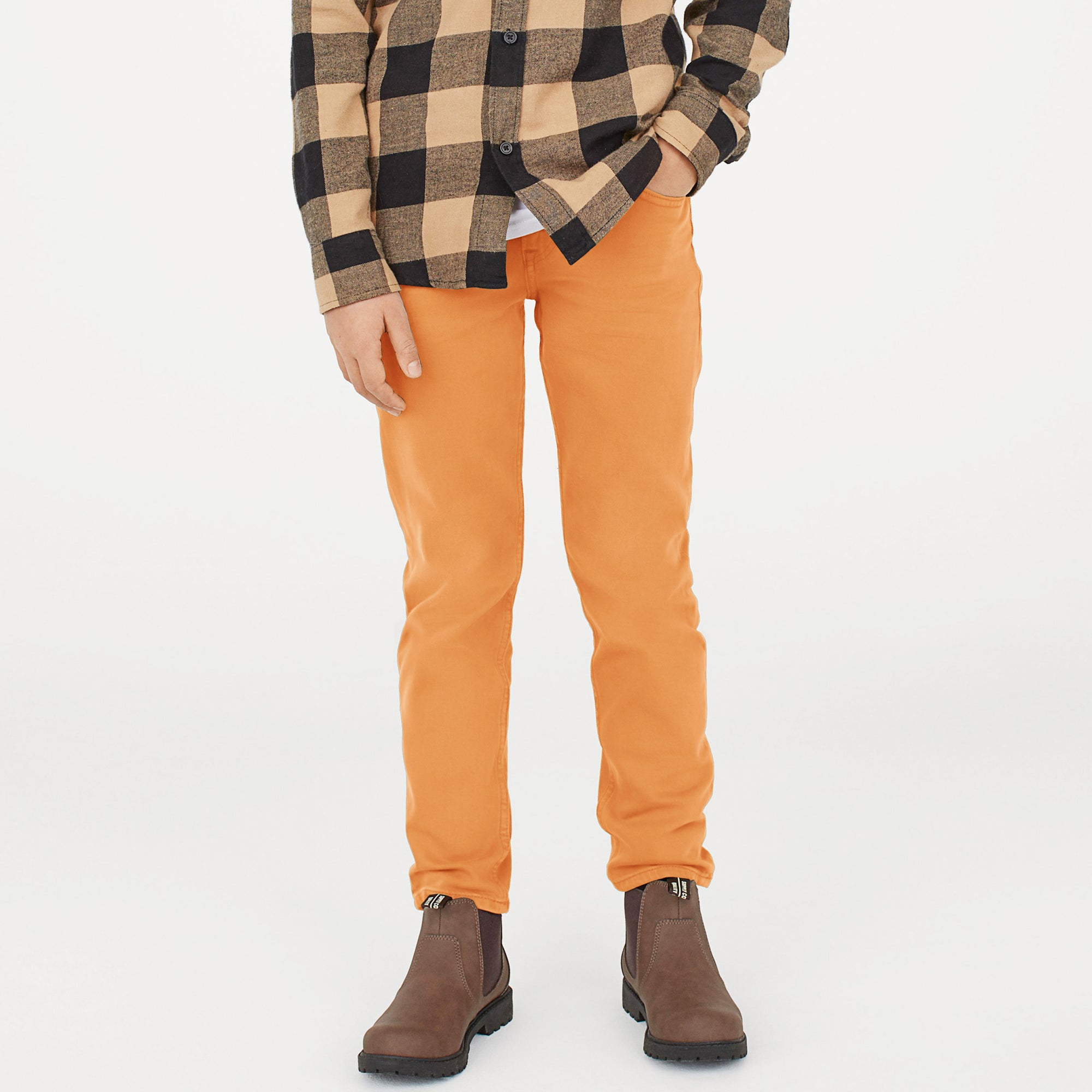 Mango Slim Fit Jeans Denim For Kids-Light Orange-NA11346