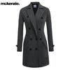 McKenzie Stylish Long Trench Coat For Ladies-Charcoal-NA6733