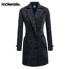 McKenzie Stylish Long Trench Coat For Ladies-Dark Blue Melange With Lining-NA7375
