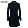 McKenzie Stylish Long Trench Coat For Ladies-Dark Navy-NA6734
