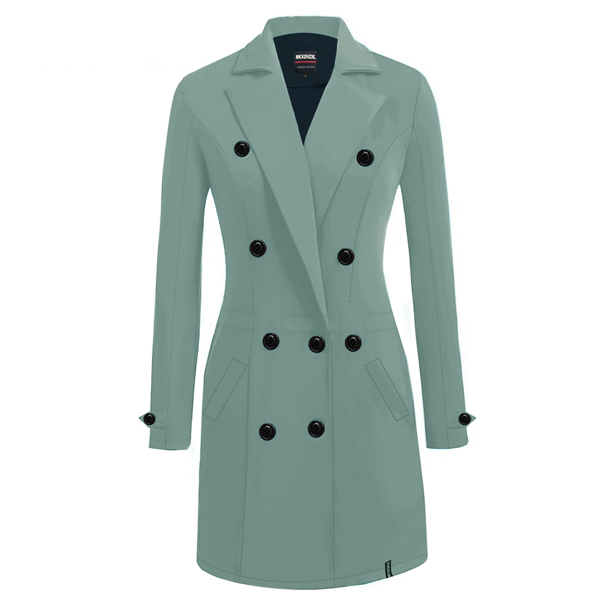 McKenzie Stylish Long Trench Coat For Ladies-Light Bond Blue-SP3509