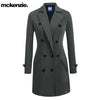 McKenzie Stylish Long Trench Coat For Ladies-Light Charcoal-NA6773