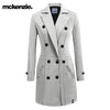 McKenzie Stylish Long Trench Coat For Ladies-Light Grey-NA6731