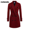 McKenzie Stylish Long Trench Coat For Ladies-Red-NA6727