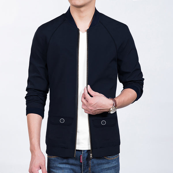 "Men's ""Drift King"" Reglan Full Sleeve Fleece Jacket-Dark Navy-JDSS026"