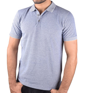 "Mens ""Next"" Cut Label PQ Polo Shirts-Blue Malange-BA000121"