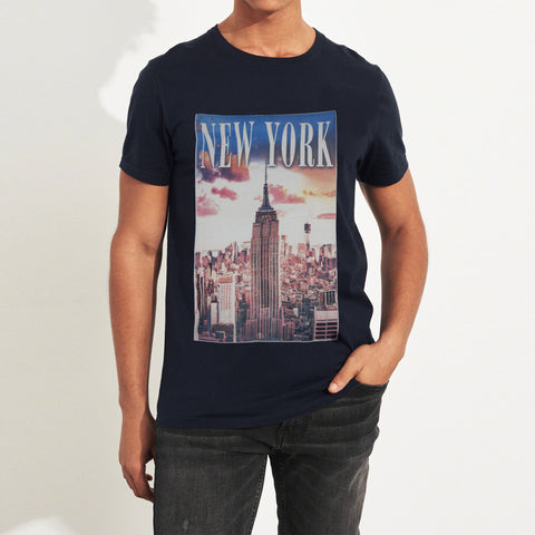 Next Printed Tee Shirt For Men-Navy-BA000125